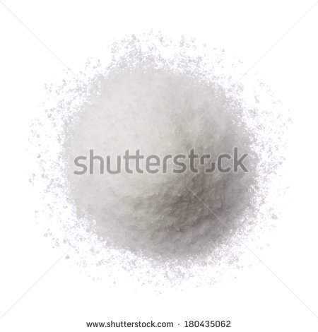 Sea Salt Pile Isolated On White Top View   Stock Photo