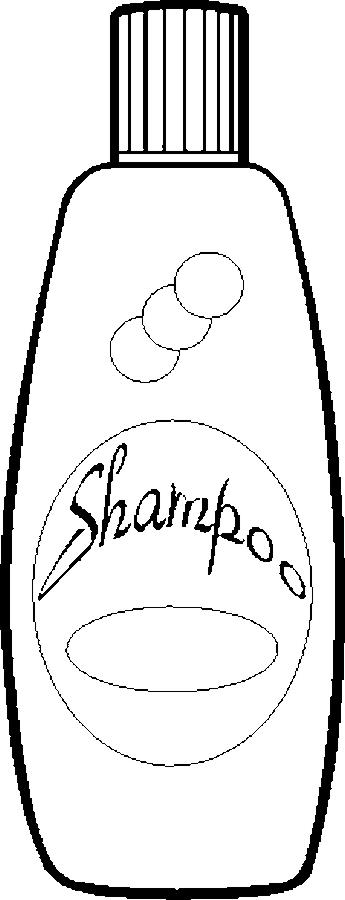 Clip Art Black And White Shampoo Clipart - Clipart Kid