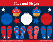 Stars And Stripes Clipart   Digital Clip Art Graphics For Personal Or