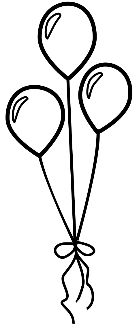 Heart Balloon Outline Clipart