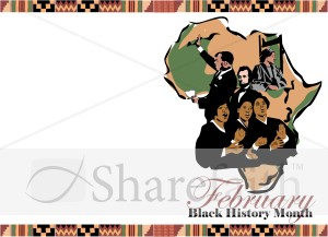 Black History Month Program Cover   Martin Luther King Clipart