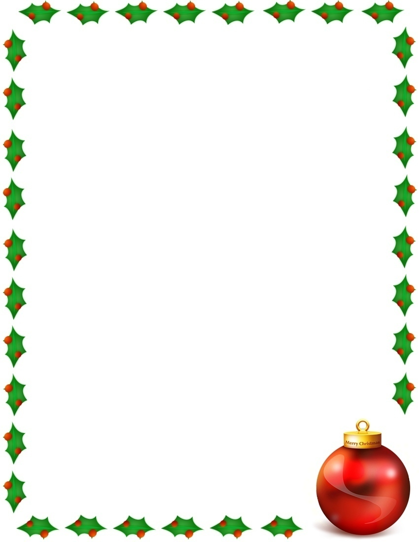 Christmas Merry Border Page A Public Domain Jpg Image Pictures