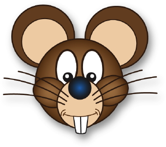 Clip Art Of A Brown Mouse Face With Long Buck Teeth