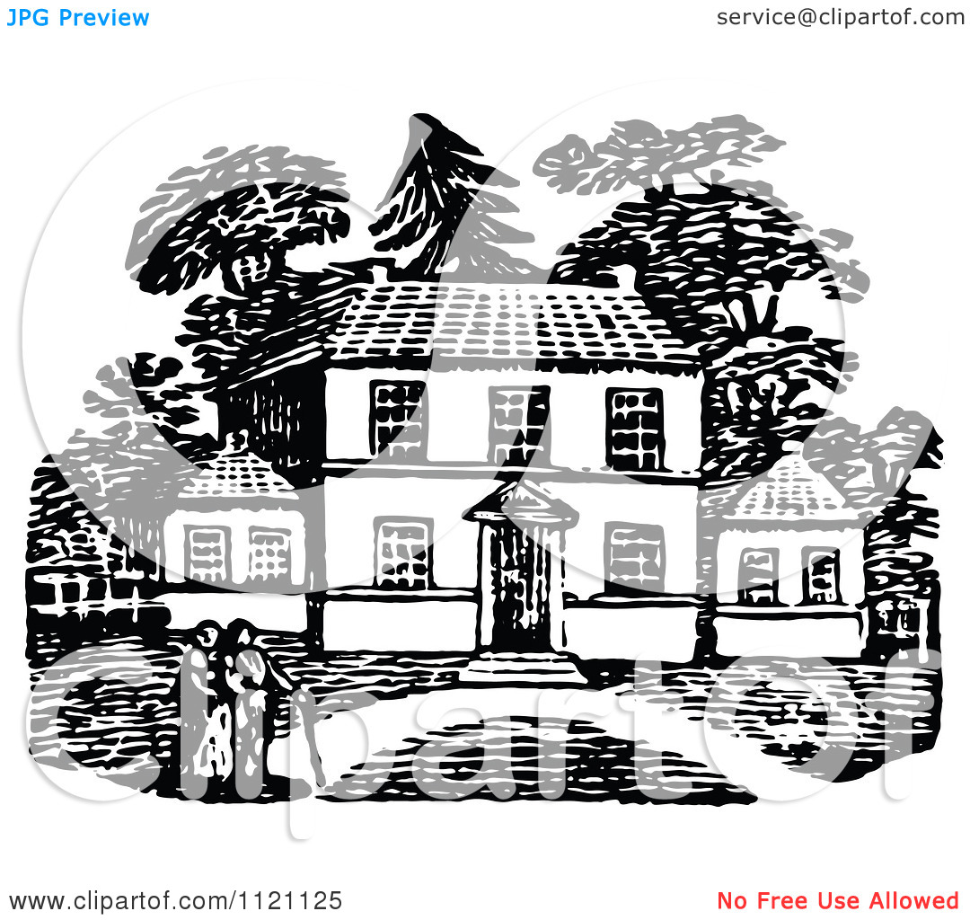 Country Home   Royalty Free Vector Illustration By Prawny Vintage
