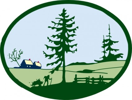 Country Scene Clip Art Free Vector In Open Office Drawing Svg    Svg