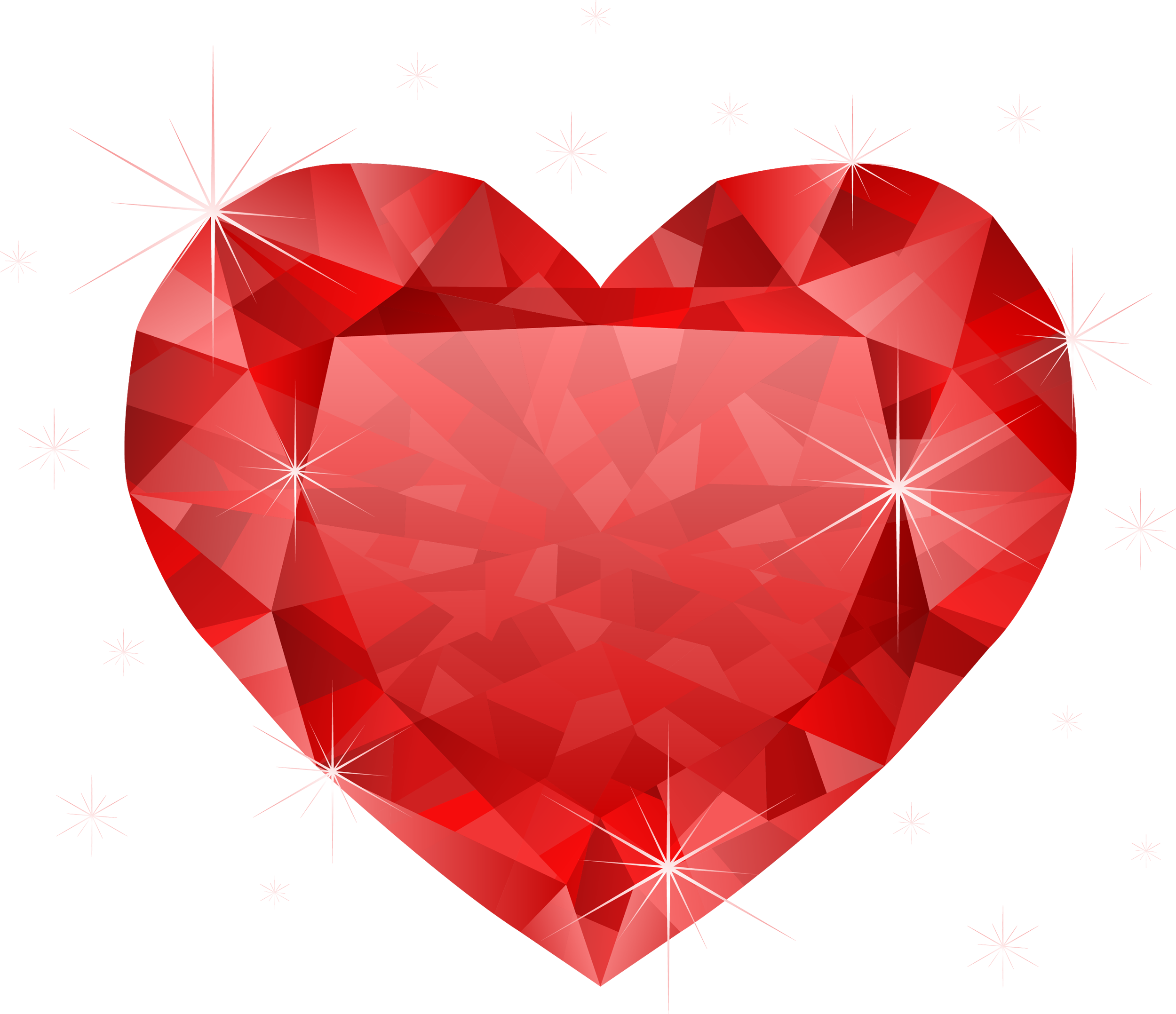 Diamond red heart png diamond red heart png