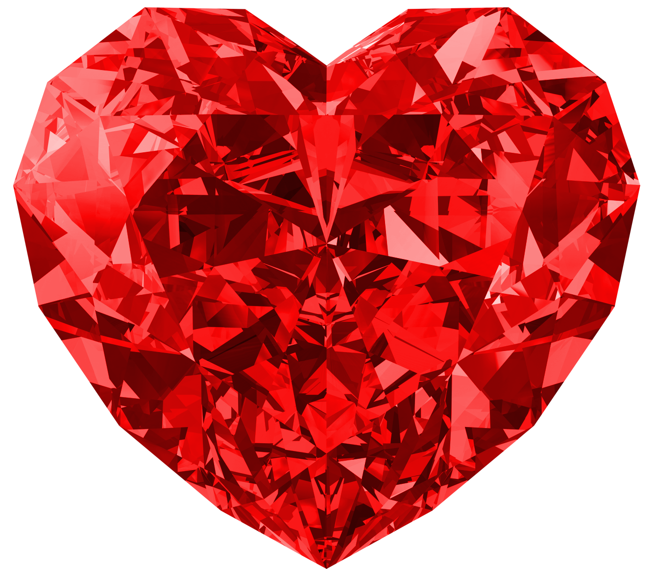 Download png image red heart diamond png image
