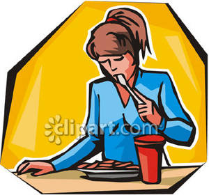 Female Eating Lunch Clipart   Cliparthut   Free Clipart