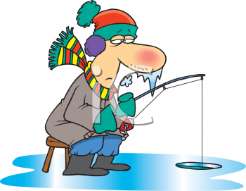 Ice Fishing Clipart Image
