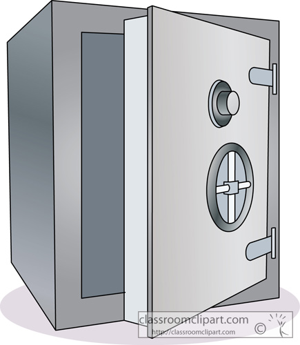 Money   Bank Safe Deposit Box 2   Classroom Clipart
