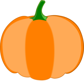 Orange Pumpkin Green Stem Clip Art   Vector Clip Art Online Royalty