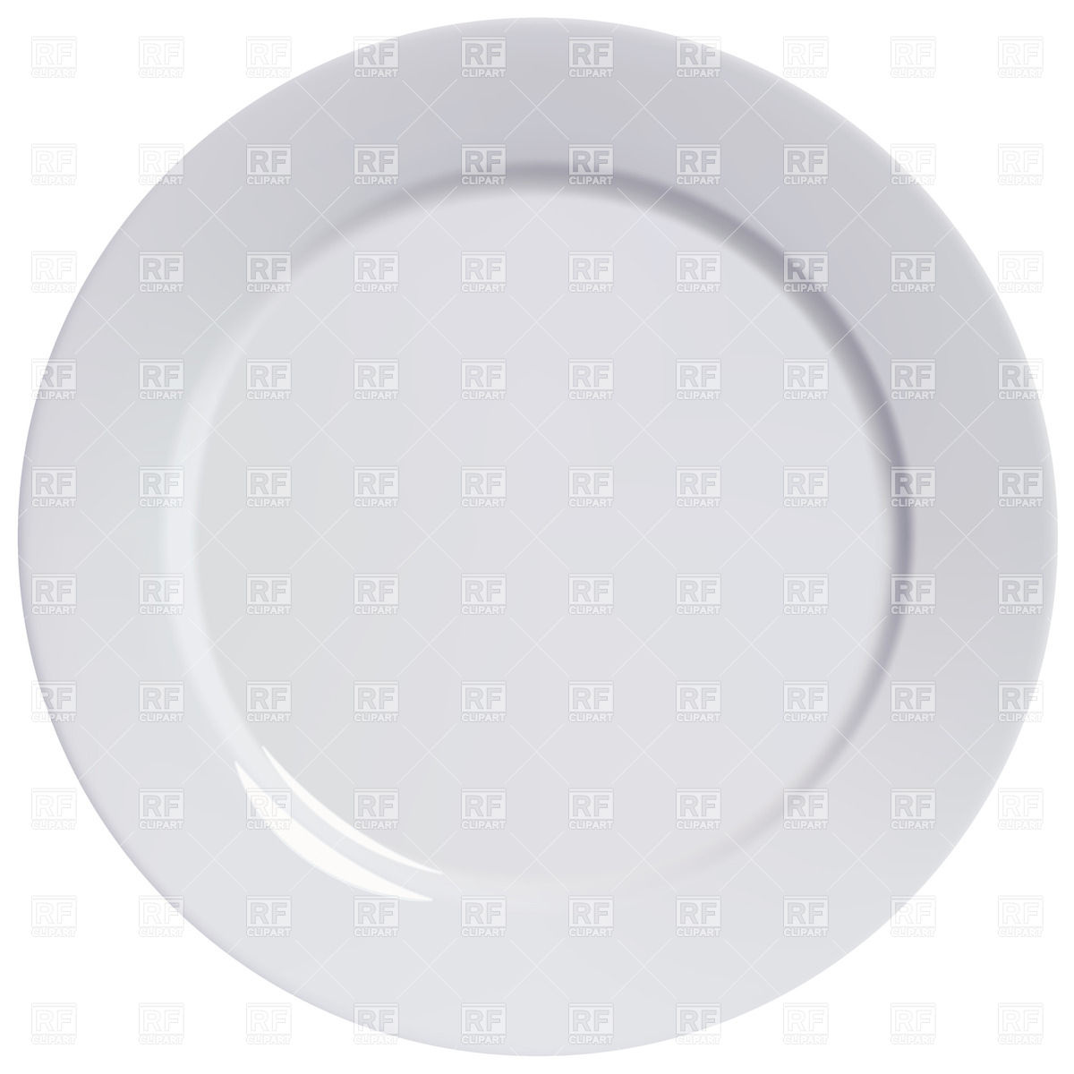 Empty Plate Clipart - ...
