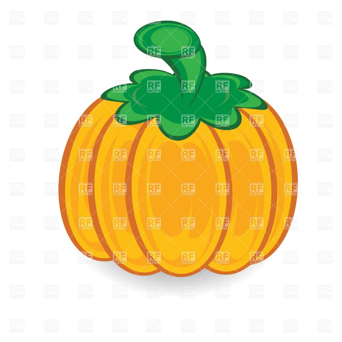 Pumpkin With Green Stem Download Royalty Free Vector Clipart  Eps