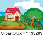 Royalty Free  Rf  Country Home Clipart   Illustrations  1