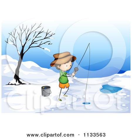 Royalty Free  Rf  Ice Fishing Clipart   Illustrations  1