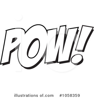 Royalty Free  Rf  Pow Clipart Illustration By Ron Leishman   Stock