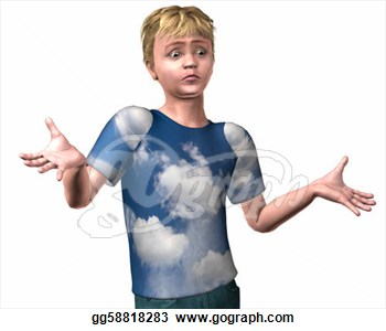 Stock Illustration   Young Boy Shrugging I Don  T Know With A Confused