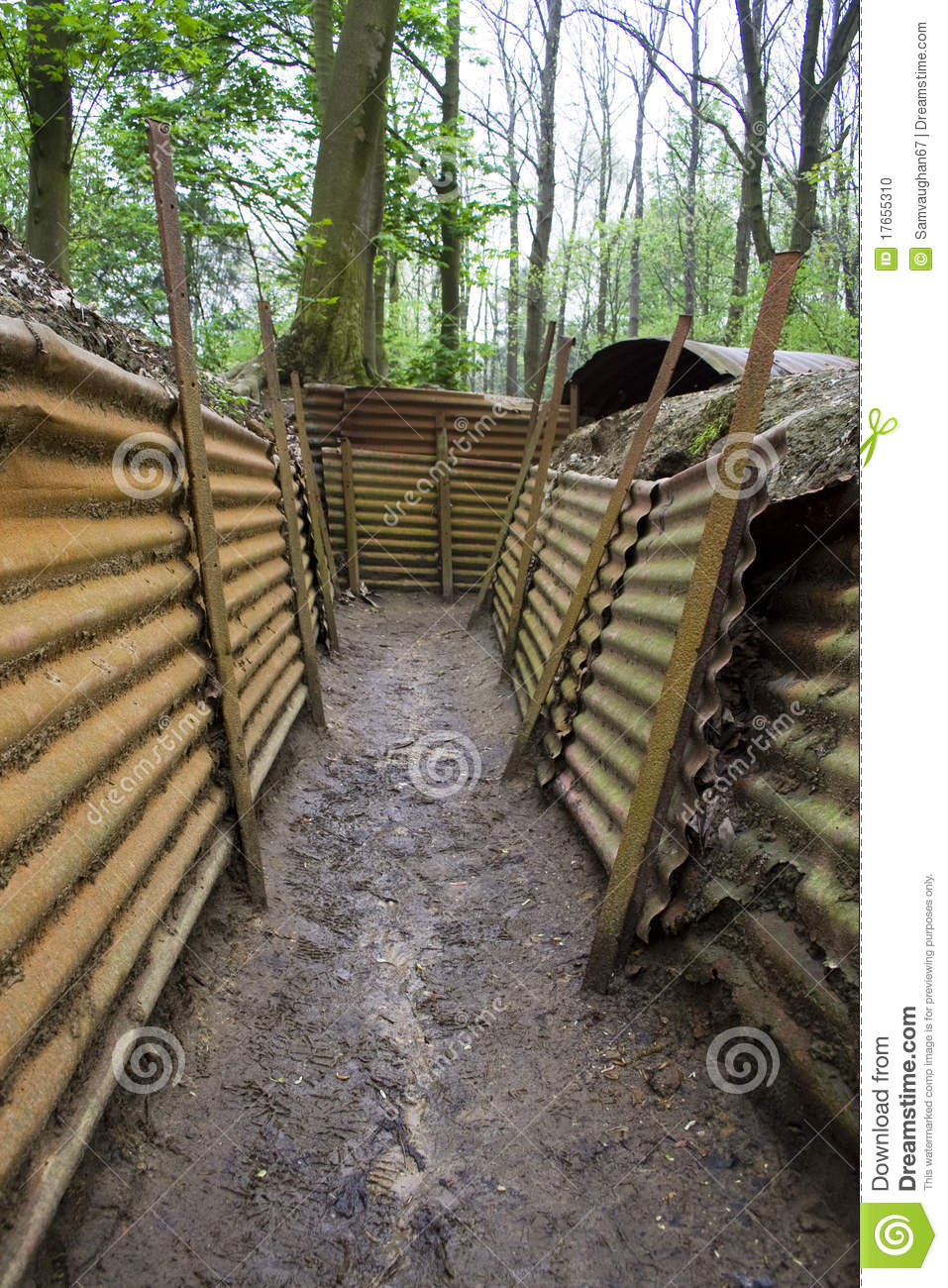 Trench Warfare Clipart Preserved Trenches Of The