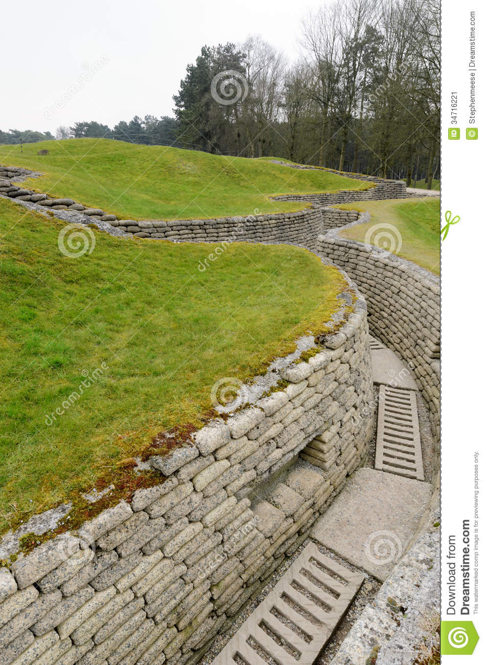 World War One Trench On The Vimy Ridge Preserving A Short Section Of