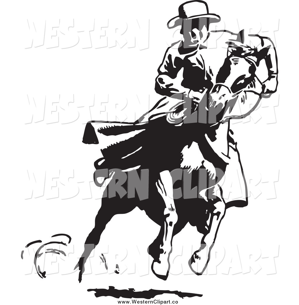 Cowboy on horse clipart clipart kid