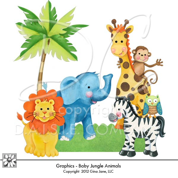 Baby Jungle Borders Clipart - Clipart Kid