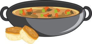 Beef Stew Clipart Image   Pot Of Beef Stew Simmering Along With Two