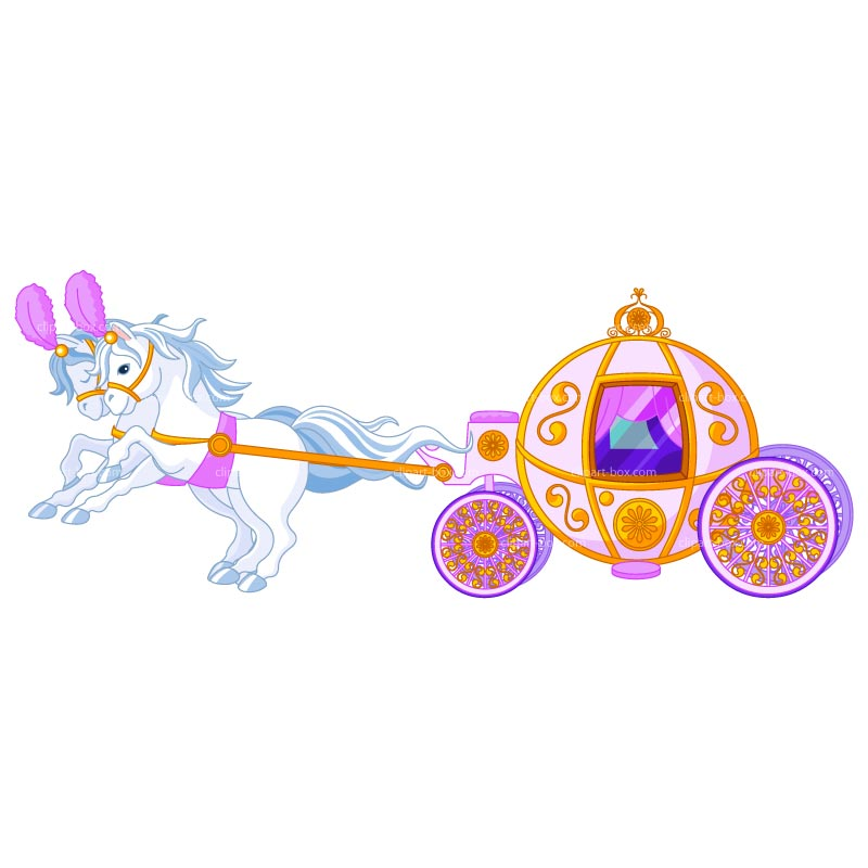 Clipart Princess Carriage   Royalty Free Vector Design