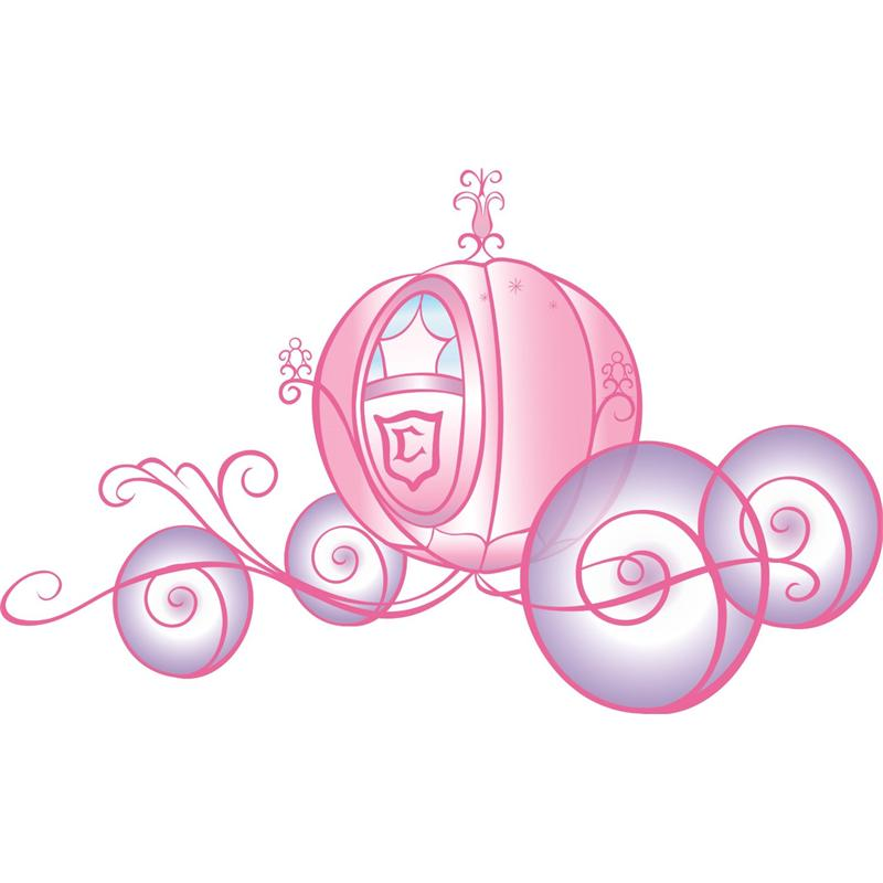 Disney Princess Carriage Giant Wall Decal With Glitter