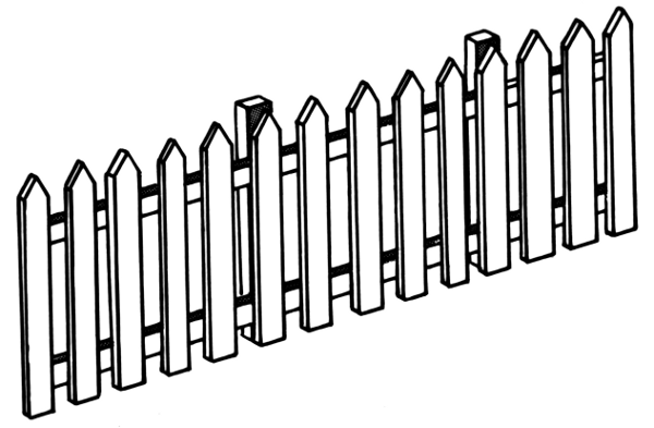 Fence Clip Art Black And White   Clipart Panda   Free Clipart Images
