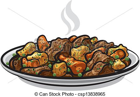Of Beef Stew With Steamy Vegetables Csp13838965   Search Clipart