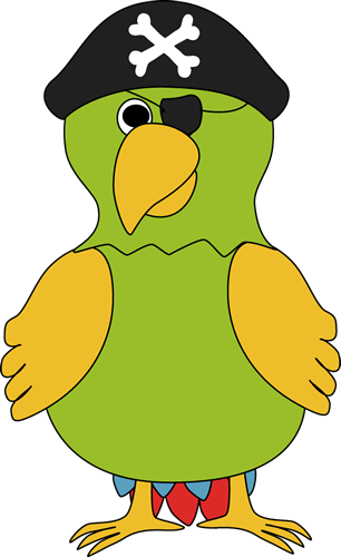 Pirate Parrot Clip Art   Pirate Parrot Image
