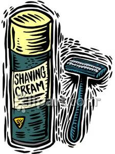 Razor And Shaving Cream   Royalty Free Clipart Picture