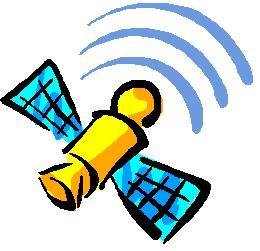 Satellite in Orbit Clip Art