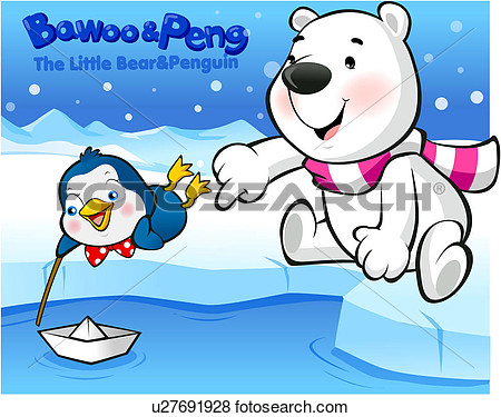 Bawoo Penguin Polar Bear Character Winter Peng Bear View Large
