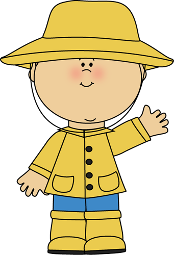 Raincoat And Boots Clipart - Clipart Suggest