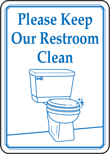 Clean Restroom Signs Clipart Clipart Suggest