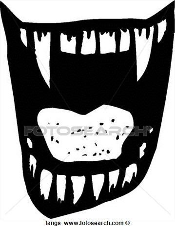 Clip Art Of Fangs Fangs   Search Clipart Illustration Posters