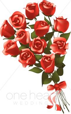 Dozen Roses Clip Art