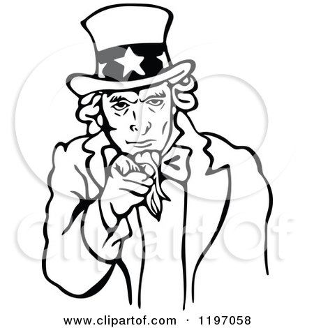 Uncle Sam Black And White Clipart - Clipart Kid | 450 x 470 jpeg 96kB