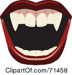 Free Rf Clipart Illustration Of An Open Mount With Red Lips And Fangs