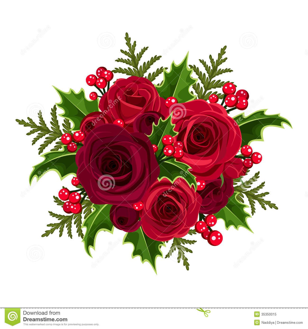 Red Roses Bouquet Clipart Go Back Images For Dozen