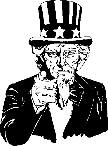 Uncle Sam Pointing Clipart - Clipart Suggest | 370 x 500 png 5kB