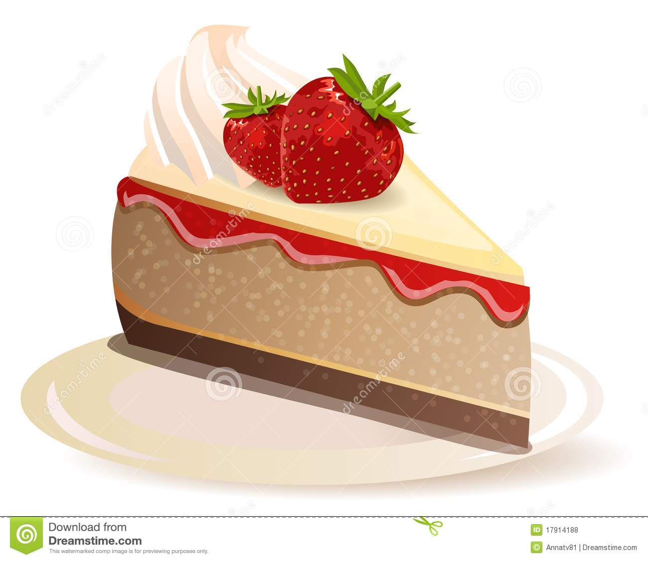 Of Strawberry Cake Royalty Free Clipart Picture Cake On Pinterest