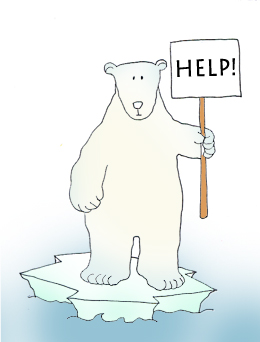 Polar Bear Clip Art Endangered Polar Bears Color Jpg