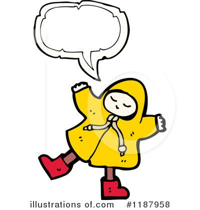 Raincoat Clipart  1187958   Illustration By Lineartestpilot
