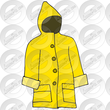 Raincoat Picture For Classroom   Therapy Use   Great Raincoat Clipart