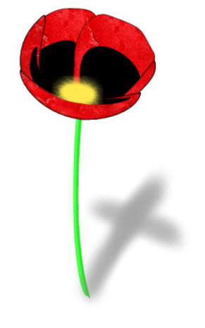 Remembrance Poppy Clipart 3