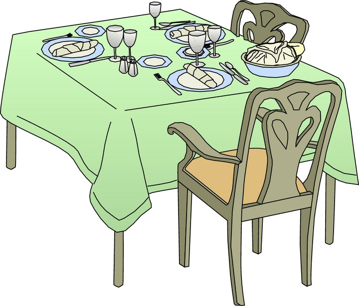 Dining Room Table Clipart - Clipart Kid