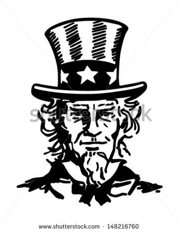 Uncle Sam Black And White Clipart - Clipart Suggest | 360 x 470 jpeg 28kB