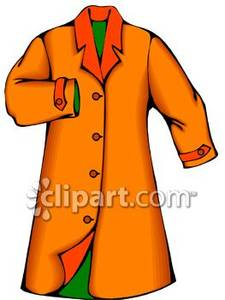 Woman S Raincoat   Royalty Free Clipart Picture